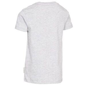 Trespass Childrens Boys Awestruck Kortärmad T-shirt 7-8 År Grey Marl 7-8 Years