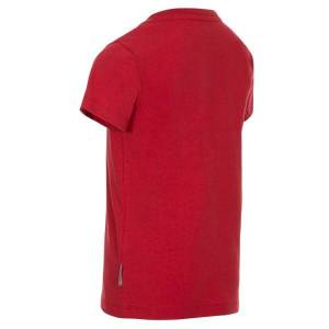 Trespass Childrens Boys Zealous T-shirt 3-4 År Röd