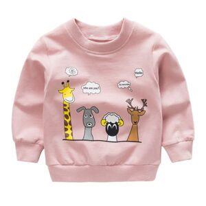 No name Autumn Long Sleeve Sweatshirt Baby Boys And Girls Cute Cartoon Pink 2t