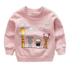 No name Autumn Long Sleeve Sweatshirt Baby Boys And Girls Cute Cartoon Pink 6m