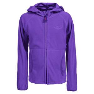 Unbranded Trespass childrens girls snozzle hooded microfleece jacket purpl