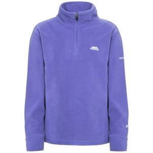 Unbranded Trespass childrens girls louviers plain fleece top purple rain u