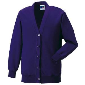 Unbranded Jerzees schoolgear childrens fleece cardigan purple utbc580