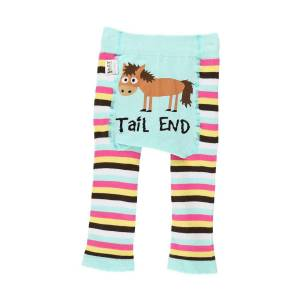 LazyOne Baby Girls Tail End Leggings 6-12 Months Turkos / rosa /