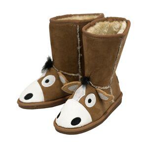 LazyOne Barn / Barn Häst Toasty Toez Boot Tofflor Child Medium B