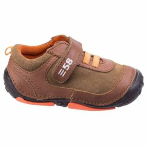 Hush Puppies Barn / pojkar Harry Touch Fastening Leather Trainer