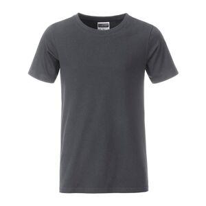 James and Nicholson Pojkar Basic T-shirt L Grafitgrå