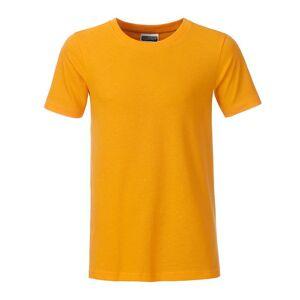 James and Nicholson Pojkar Basic T-shirt XS Guldgult