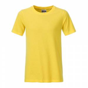 James and Nicholson Pojkar Basic T-shirt XL Gul