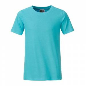 James and Nicholson Pojkar Basic T-shirt M Pacific Blue