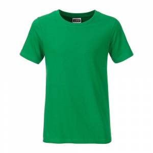 James and Nicholson Pojkar Basic T-shirt M Fern Green