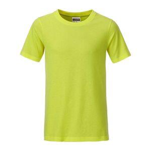 James and Nicholson Pojkar Basic T-shirt XS Syra gul
