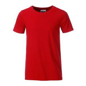 James and Nicholson Pojkar Basic T-shirt XXL Röd