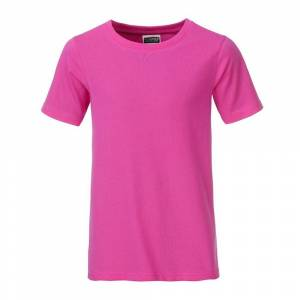 James and Nicholson Pojkar Basic T-shirt XXL Rosa