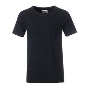 James and Nicholson Pojkar Basic T-shirt XXL Svart