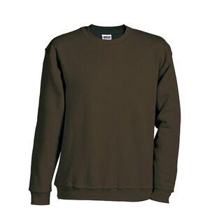James and Nicholson Barn / barn rund tung tröja XL Brun