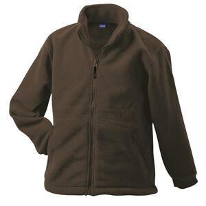 James and Nicholson Barn- / barnfärgad fleece XL Brun
