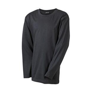 James and Nicholson Barn / barn Medium långärmad T-shirt M Svart