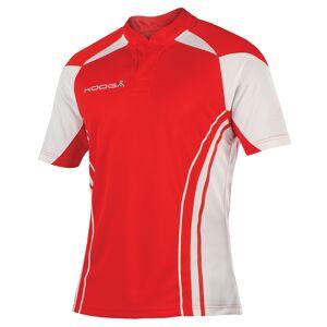 KooGa Boys Junior Stadium Match Rugby Shirt L Röd vit