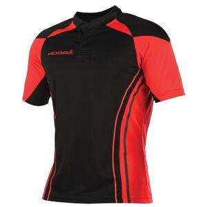 KooGa Boys Junior Stadium Match Rugby Shirt XL Svart röd