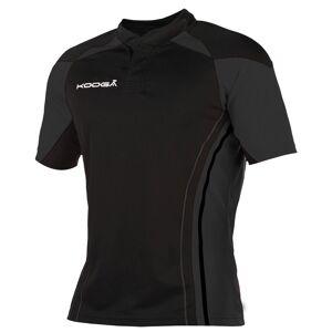 KooGa Boys Junior Stadium Match Rugby Shirt L Black / Black