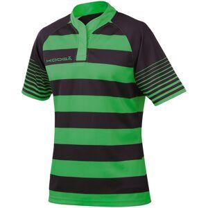 KooGa Pojkar Junior Touchline Hooped Match Rugby Shirt XL Svart