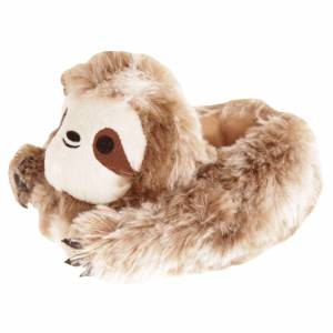 Slumberzzz Barn / Barns Sloth Tofflor 9-10 Child UK Brun