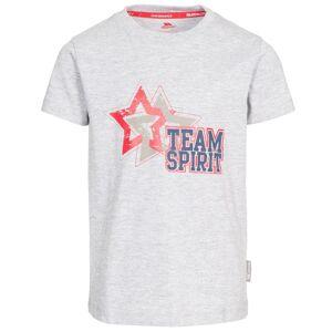 Trespass Barn-pojkar Awestruck kortärmad T-shirt 7-8 Years Grå M