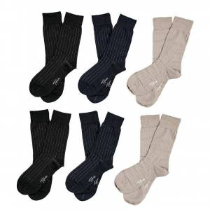 Topeco Mercerized Cotton Socks 6-pack