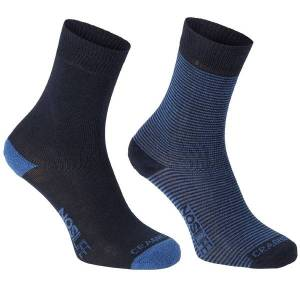 Unbranded Craghoppers mens nosilife walking hiking socks (pack of 2) dark