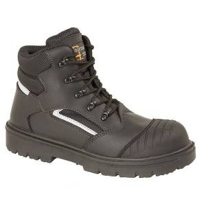 Unbranded Grafters mens safety hiker type boot black multi utdf1642