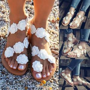 Unbranded Women bohemian style flat shoes flower patchwork