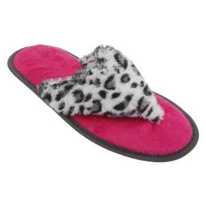 Unbranded Womens/ladies animal print supersoft toe post flip flop slippers
