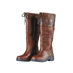Unbranded Dublin adults unisex river grain leather boots red brown utwb863
