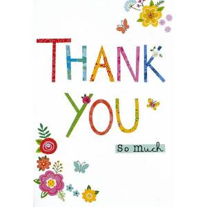 Unbranded Simon elvin open thank you individually wrapped cards (pack of 1