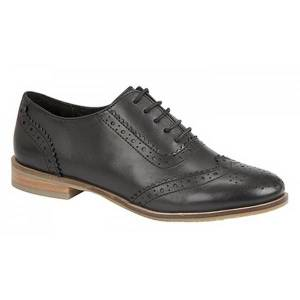 Unbranded Cipriata womens/ladies brogue oxford lace up leather shoes black