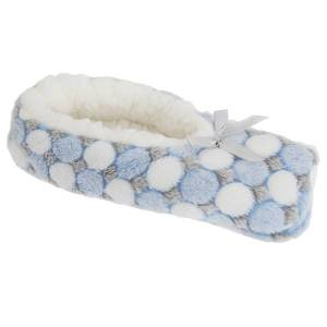 Unbranded Foxbury womens/ladies supersoft circle pattern fleece slippers w