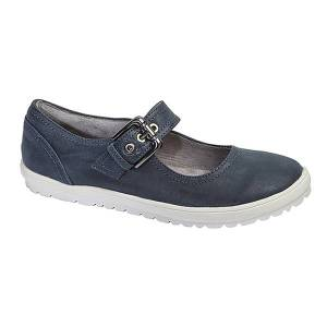 Unbranded Cipriata womens/ladies florence buckle bar casual flat shoes nav