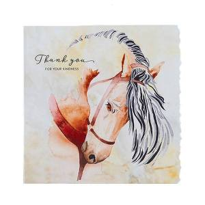 Unbranded Deckled edge fanciful dolomite greetings card thank you for your