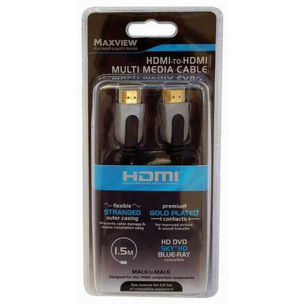 Unbranded Maxview hdmi to hdmi multimedia cable black utmd646