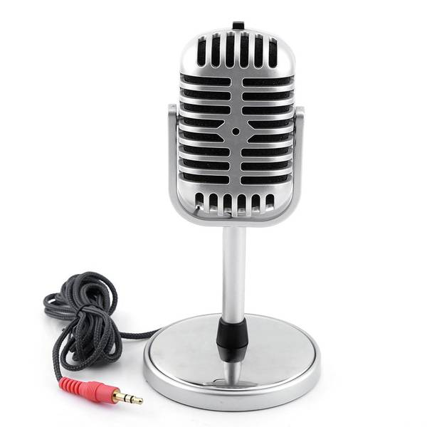 Unbranded Classic retro style dynamic stereo microphone mic with 3.5mm