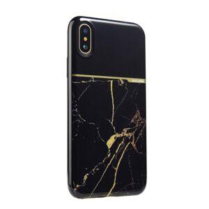 Your Case iPhone X/XS   Premium Marmorskal i Mjukplast, Gulddetaljer