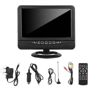 Unbranded 9.5 inch wide viewing angle portable tv analog mobile dvd te