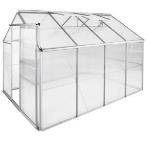 tectake Växthus aluminium/polykarbonat utan fundament - 250 x 185 x 195