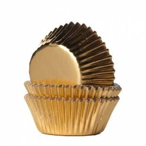 Unbranded Guld foil mini-muffinsformar 36 st - house of marie