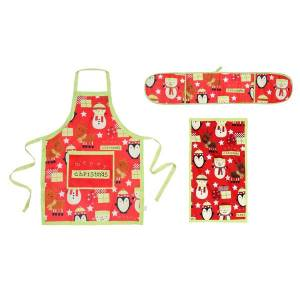 Unbranded Christmas shop merry christmas kitchen set (oven gloves, apron a