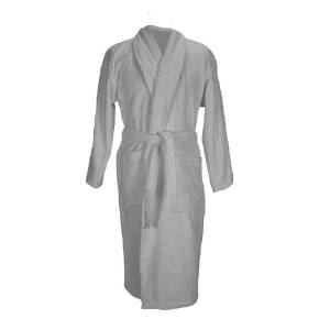 Unbranded A&r towels adults unisex bath robe with shawl collar anthracite