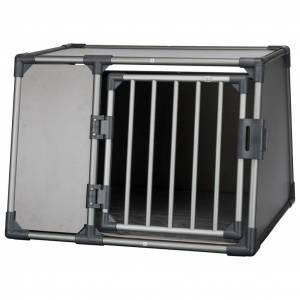 TRIXIE Lutande hundtransportbur aluminium strl. L grafitgrå 3933