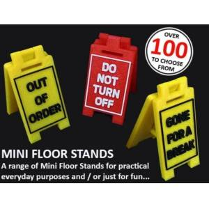 MakeIT Sign: Empty the dishwasher, Awesome Mini Floor Stands, fun fun