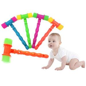 Unbranded 25cm plastic whistle training toddler baby kids handle hammer no